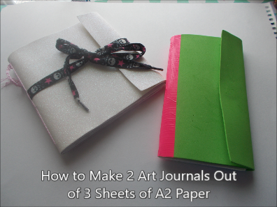 make 2 art journals out of 3 a2 sheets thumbnail