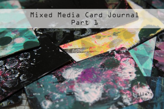 mixed media card journal p1