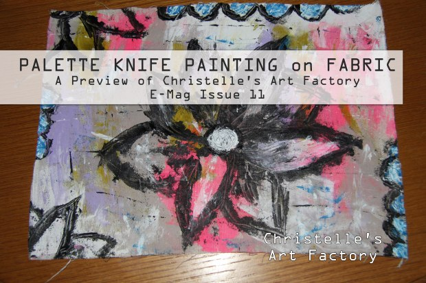 PALETTE KNIFE PAINTING ON FABRIC thumbn